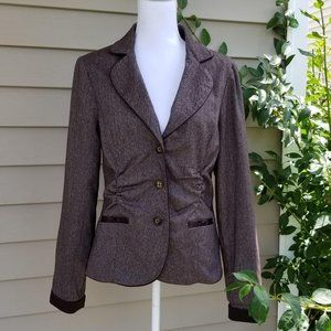 Maurices Lined Chocolate Blazer Large